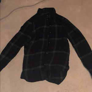 Dark Green Flannel